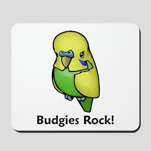 Budgies Rock! Mousepad