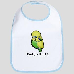 Budgies Rock! Bib