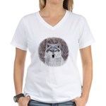 Timeless Wisdom: Women's V-Neck T-Shirt
