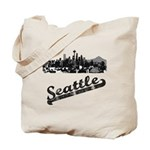 Vintage Seattle Washington Reusable Tote Bag