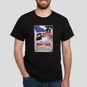 Colors Won't Run Patriot (Front) Dark T-Shirt