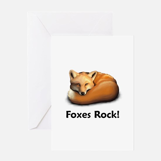 Foxes Rock! Greeting Card