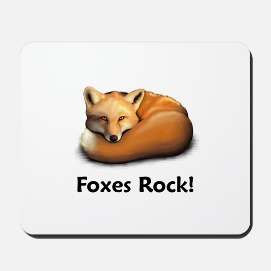 Foxes Rock! Mousepad