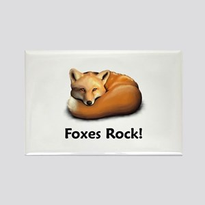 Foxes Rock! Rectangle Magnet