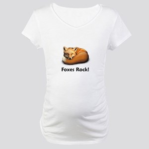 Foxes Rock! Maternity T-Shirt