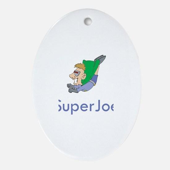 SuperJoe Oval Ornament