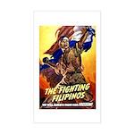 Fighting Filipinos Military Soldier Sticker (Recta