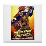 Fighting Filipinos Military Soldier Tile Coaster