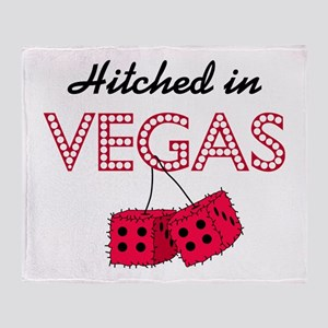 Hitched in Vegas Throw Blanket