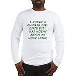 Chinese Guy/Girl Long Sleeve T-Shirt