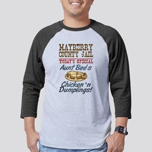 Mayberry County Jail Aunt Bee Mens Baseball Tee