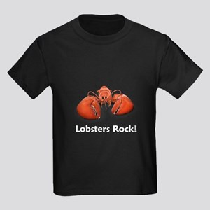Lobsters Rock! Kids Dark T-Shirt