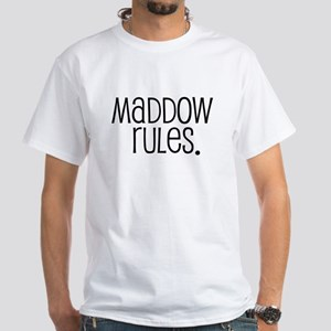 Maddow Rules. White T-Shirt