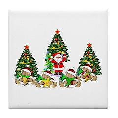 Christmas Gifts Tile Coaster