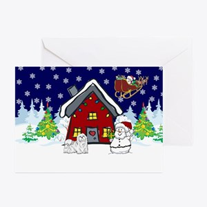 Cute Maltese Christmas Greeting Cards (Pk of 10)