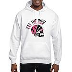 Eat the Rich Punk Skull Hooded Sweatshirt