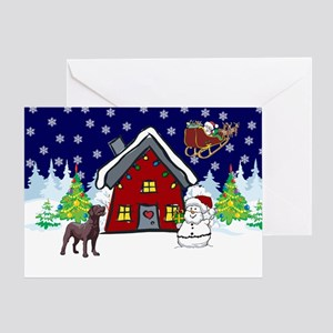 Cute Chocolate Lab Christmas Greeting Card