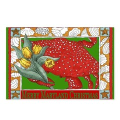 Maryland Christmas Art Postcards (Package of 8)