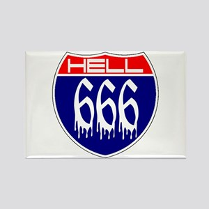 HELL ROUTE 666 Rectangle Magnet