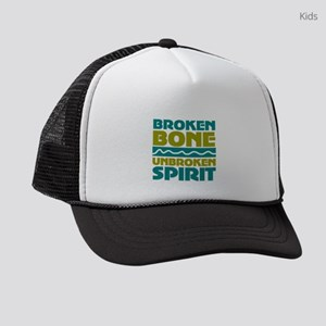 broken bone Kids Trucker hat