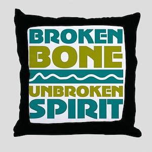 broken bone Throw Pillow