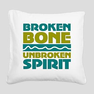 broken bone Square Canvas Pillow