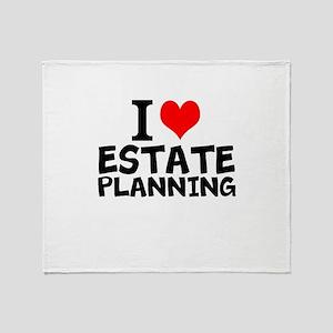 I Love Estate Planning Throw Blanket