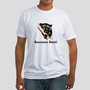Raccoons Rock! Fitted T-Shirt