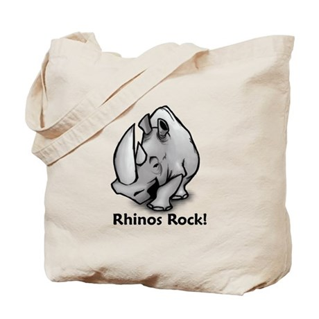 Rhinos Rock! Tote Bag