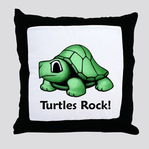 Turtles Rock! Throw Pillow