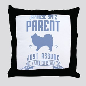 Japanese Spitz Throw Pillow
