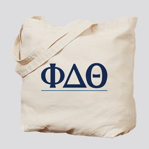 Phi Delta Theta Letters Tote Bag