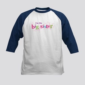i'm the big sister shirt scatter Kids Baseball Jer