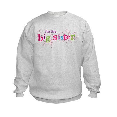 i'm the big sister shirt scatter Kids Sweatshirt