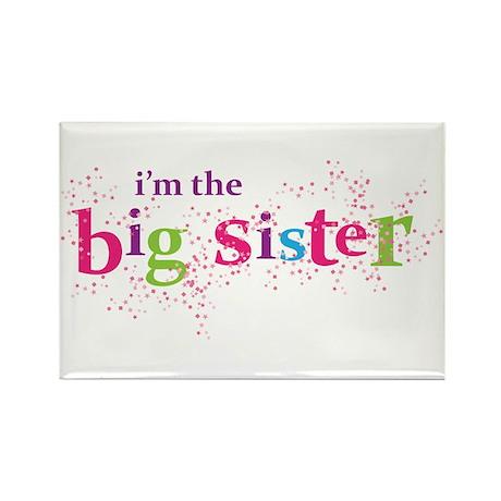 i'm the big sister shirt scatter Rectangle Magnet