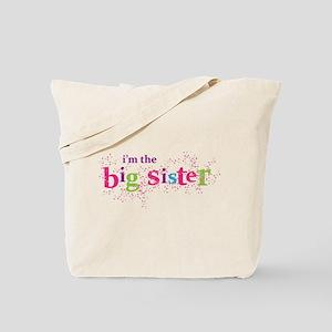 i'm the big sister shirt scatter Tote Bag
