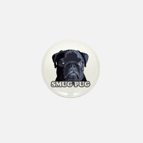 Smug Pug! Mini Button