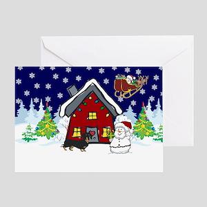 Cute Dachshund Christmas Greeting Card