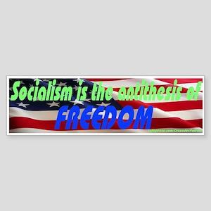 Freedom VS Socialism Bumper Sticker