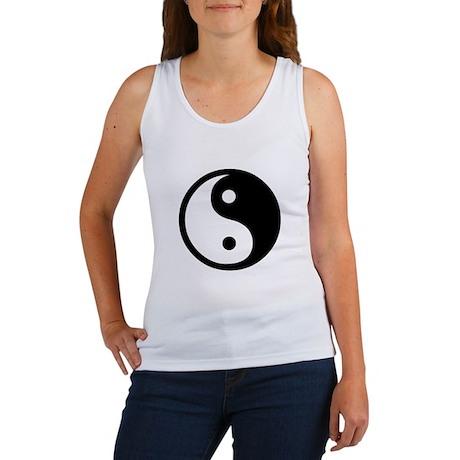 Black and White Yin Yang Bala Women's Tank Top