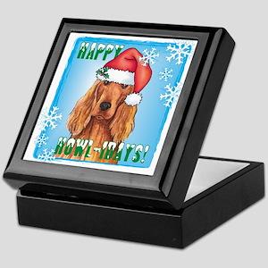 Holiday Irish Setter Keepsake Box