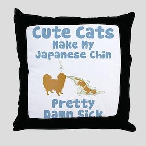 Japanese Chin Throw Pillow