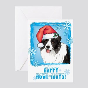 Holiday Border Collie Greeting Card
