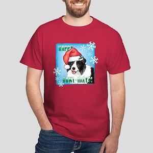 Holiday Border Collie Dark T-Shirt