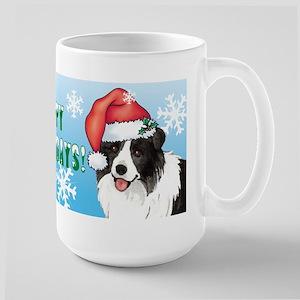 Holiday Border Collie Large Mug