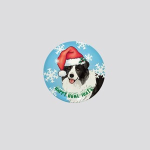 Holiday Border Collie Mini Button