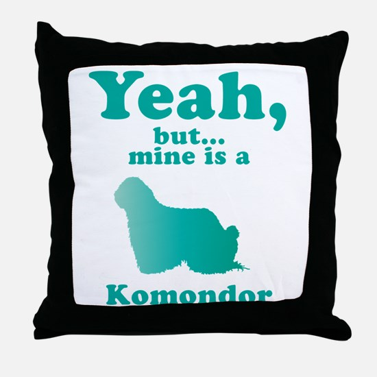 Komondor Throw Pillow