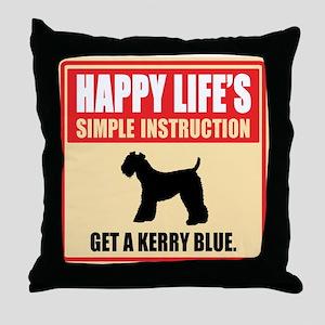 Kerry Blue Terrier Throw Pillow