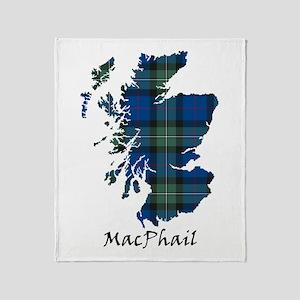 Map-MacPhail hunting Throw Blanket