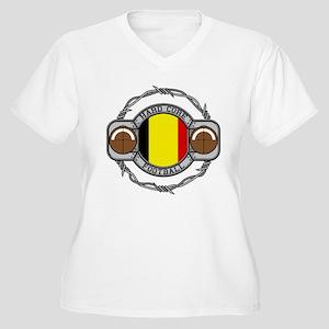 Belgium Football Women's Plus Size V-Neck T-Shirt
